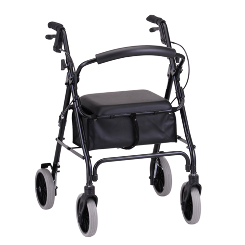 Nova Medical ZOOM 22 Rolling Walker Black
