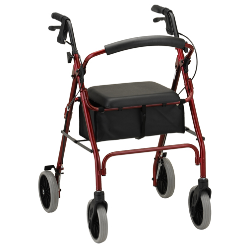 Nova Medical ZOOM 24 Rolling Walker Red