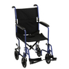 "Nova Medical 17"" Lightweight Transport Chair Blue"