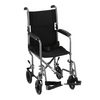 "Nova Medical 17"" Steel Transport Chair Chrome"