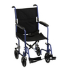 "Nova Medical 19"" Lightweight Transport Chair Blue"