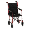 "Nova Medical 19"" Lightweight Transport Chair Red"