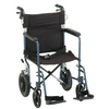"Nova Medical 19"" Lightweight Transport Chair with Hand Brakes, 12"" Rear Wheels"