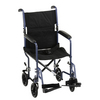 Nova Medical 19' Steel Transport Chair Blue