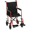 "Nova Medical 19"" Steel Transport Chair Red"