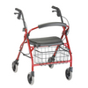 Nova Medical Cruiser Deluxe Junior Rolling Walker Red