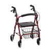 Nova Medical GetGO Petite Rolling Walker Red