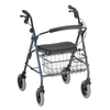 Nova Medical Mack Heavy Duty Rolling Walker Blue