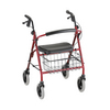 Nova Medical Mack Heavy Duty Rolling Walker Red