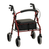 Nova Medical ZOOM 20 Rolling Walker Red