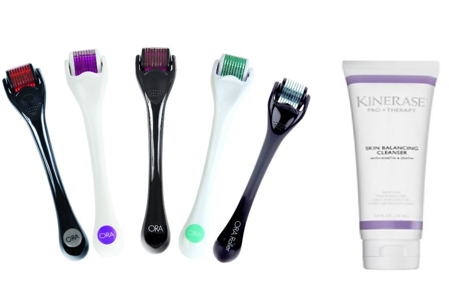 ORA Microneedle Dermal Roller System - With Free Kinerase Cleanser (Limited Quantities)