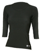 Proskins Slimming Shapewear 3/4 Length Sleeve Shirt Black