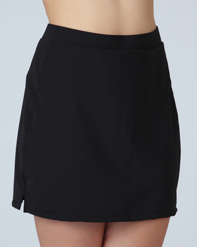 Slim Perfect Longer Black Slimming Swim Skirt