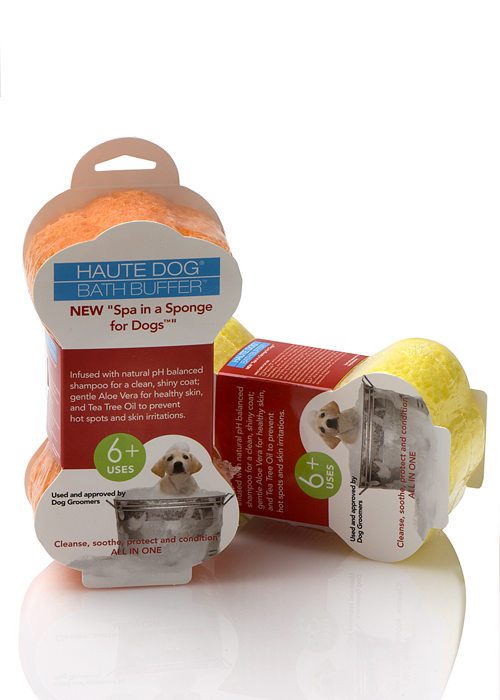 Spongeables Spa In A Sponge For Dogs Shampoo & Conditioner-Infused Sponge (2 Pack w/ Aloe Vera & Tea Tree) - 12 Plus Uses