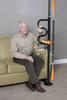 Stander Security Pole & Curve Grab Bar-Black