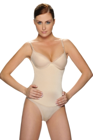 Vedette Medium Control Suit Body Shaper in (Thong Back) w/Bra