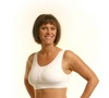 Wear Ease Grace Post-Mastectomy, Breast Surgery Front Zipper Closure Bra (w/ 2 Removable Drain Tube Pouches)