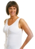 Wear Ease New Dawn Post-Mastectomy, Breast Surgery Camisole (w/ 2 Removable Drain Tube Pouches & 2 Breast Forms)