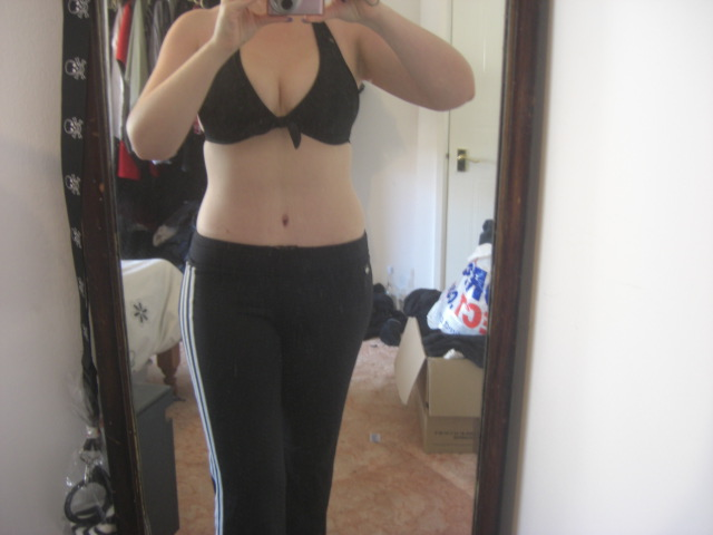 7 weeks post op sports trousers front