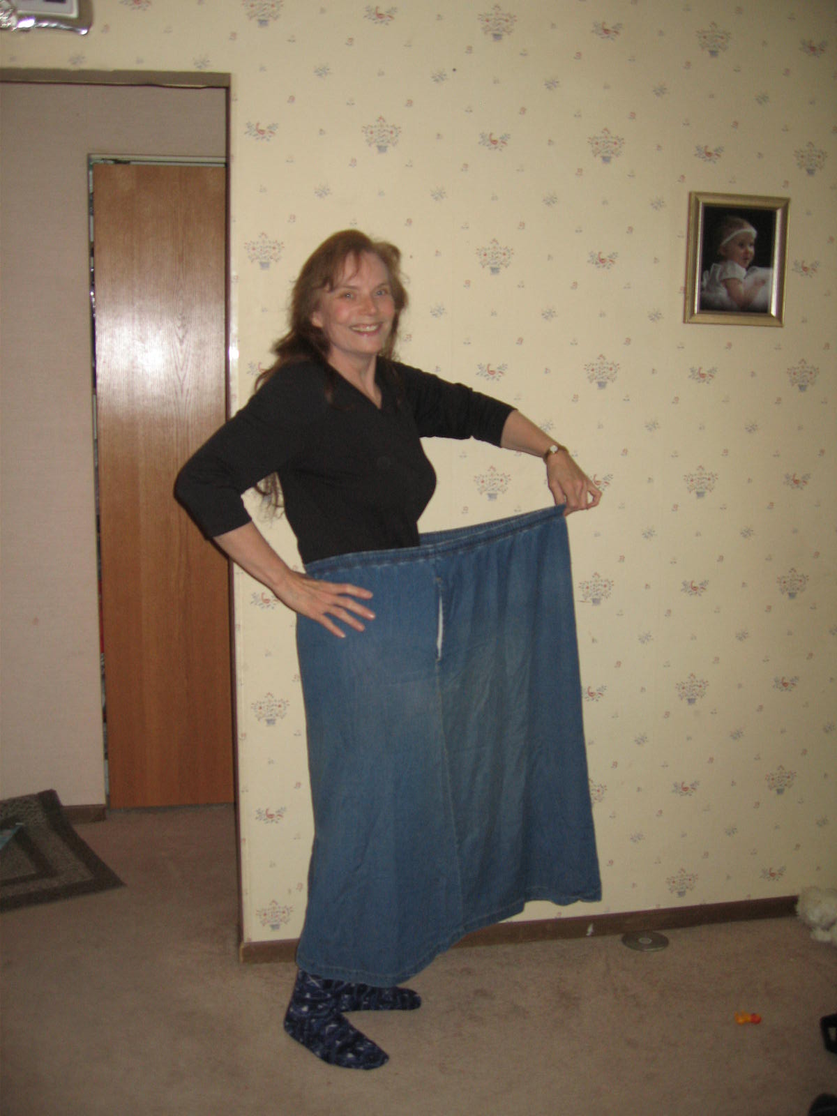Me in my old 'fat' skirt