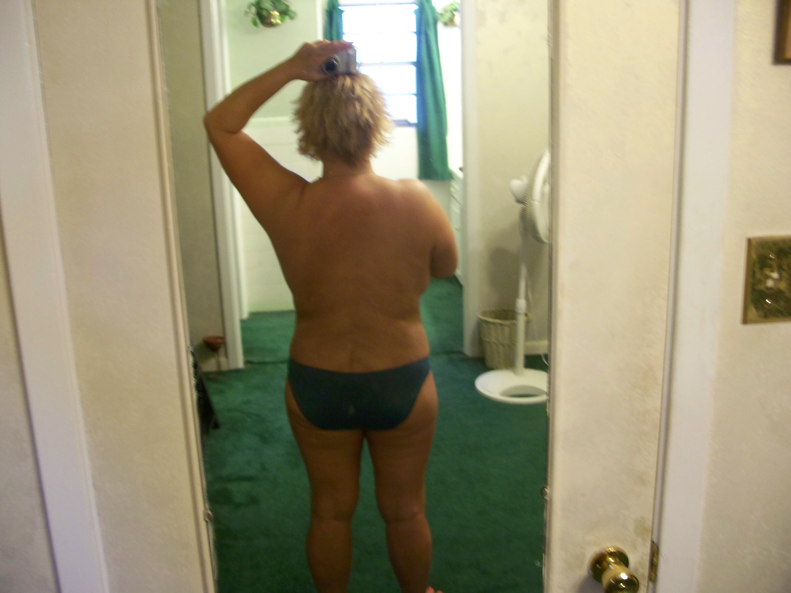 1 mth 2nd TT, backside view this is awesome compared to the before with the hog fat