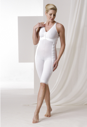 Full Body Plastic Surgery Compression Garment & Bra - Above Knee - Stage 1 (Rainey)