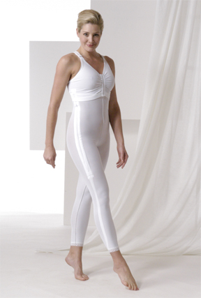 Full Body Plastic Surgery Compression Garment & Bra - Below Knee - Stage 1 (Rainey)