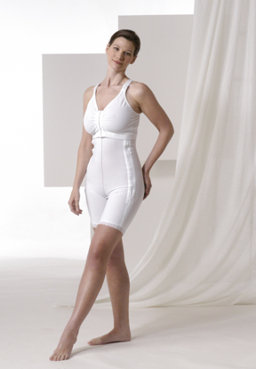 Full Body Plastic Surgery Compression Garment & Bra - Mid Thigh - Stage 1 (Rainey)