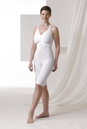 Full Body Cosmetic Surgery Compression Garment & Bra - Above Knee - Stage 2 (Rainey) (2 Piece Kit)