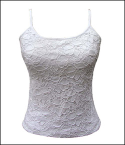 Alise Jacquard Cotton Lace Top