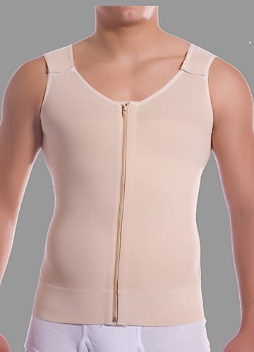 Male Abdominal Cosmetic Surgery Compression Vest with Zipper- Stage 1