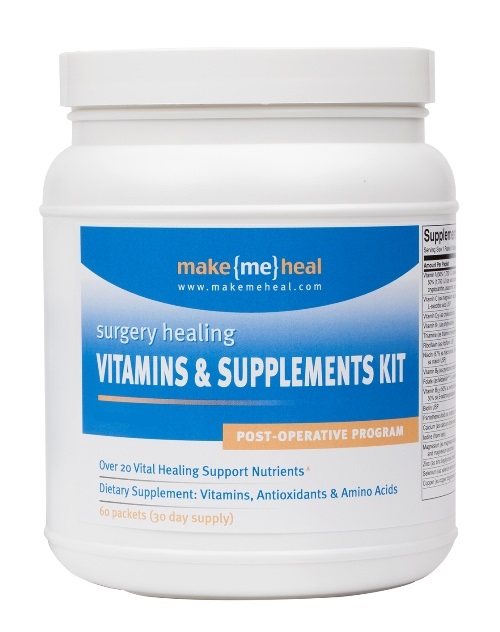 MakeMeHeal Plastic Surgery Healing Supplements & Vitamins - Post-Op Formula - 30 Day