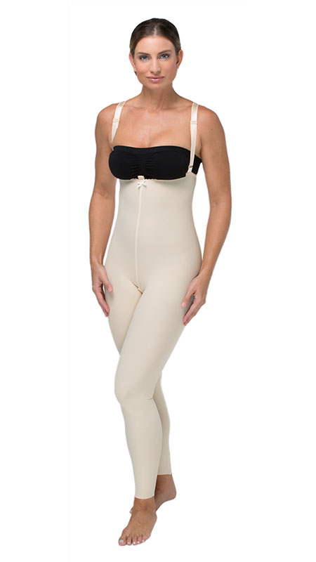 High Back Mid Body Plastic Surgery Compression Garment - Ankle Length ( No Lace) - Stage 2 (Marena)